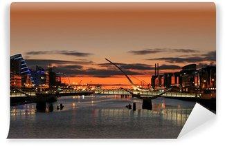 Vinylová Fototapeta Východ slunce na řece Liffey