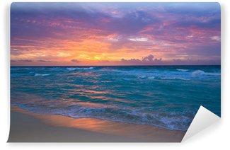 Vinylová Fototapeta Východ slunce v Cancúnu