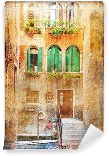 Vinylová Fototapeta Výhled na Benátky v vintage stylu, jako pohlednice