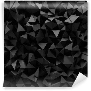 Vinylová Fototapeta Vysídlené 3d trojúhelníkový pozadí