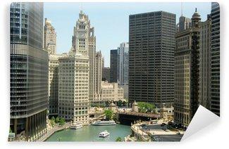 Vinylová Fototapeta Výškových budov v centru Chicaga, Illinois