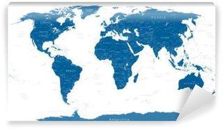 Vinylová Fototapeta Vysoce Detailní World Map