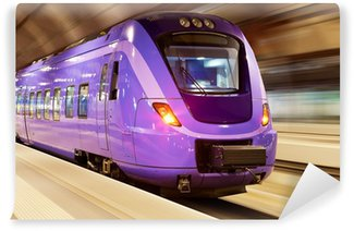 Vinylová Fototapeta Vysokorychlostní vlak s motion blur
