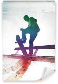 Vinylová Fototapeta Výstřední Skateboardista