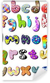 Vinylová Fototapeta Vzorované malá písmena abecedy