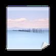 Fototapeta Winylowa Wędki i miękka woda na krajobraz morze. długi czas ekspozycji.