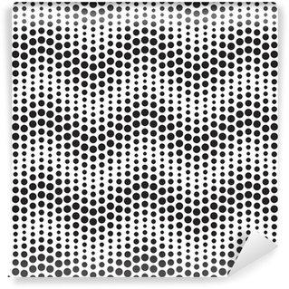 Fototapeta Winylowa Wektor bez szwu wzoru geometrycznego. Punktów poziomych falistych.