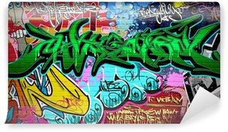 Fototapeta Winylowa Wektor tła sztuki grafitti. mur miejski