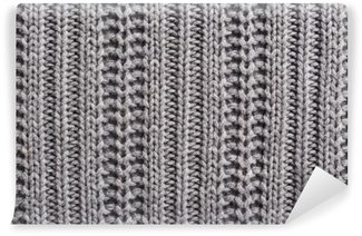 Fototapeta Winylowa Wełna Knitting bliska tekstury
