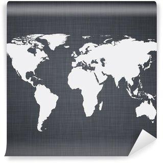 Vinylová Fototapeta White mapa světa.
