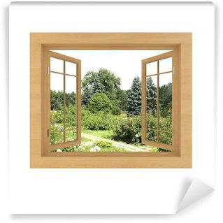 Fototapeta Winylowa Widok z okna odizolowane na białym