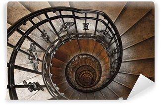 Fototapeta Winylowa Wieża schody spiralne