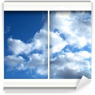 Fototapeta Winylowa Window View w Blue Sky