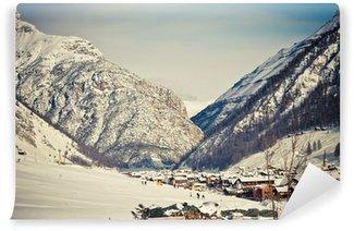 Fototapeta Winylowa Winter & Alpy (Livigno i Foscagno)