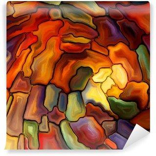 Fototapeta Winylowa Wizualizacja cyfrowej Witraż
