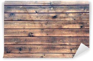 Vinylová Fototapeta Wood Board Plank Panel Brown Background, XXXL