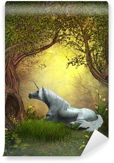 Vinylová Fototapeta Woodland Unicorn