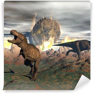 Fototapeta Winylowa Wyginięcie dinozaurów Tyrannosaurus - 3D render
