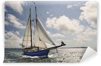 Vinylová Fototapeta Yacht Sailing. Sbírka lodě a jachty