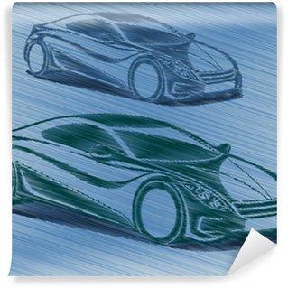 Vinylová Fototapeta Yarışan otomobiller