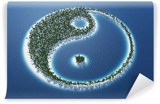 Vinylová Fototapeta Yin a Yang - Island Concept 3