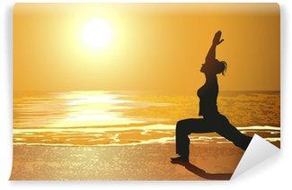 Fototapeta Vinylowa Yoga na plaży