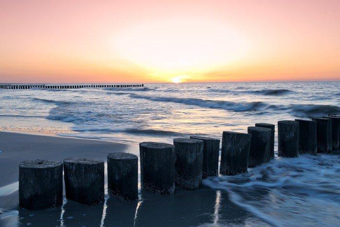 Fototapeta Vinylowa Zachód słońca - Woda