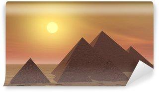 Vinylová Fototapeta Záhadné pyramidy od západu slunce