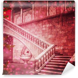 Vinylová Fototapeta Zámek růžový Interiér Fantasy Kulisa