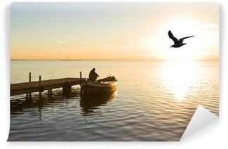 Vinylová Fototapeta Zamyšlený rybář
