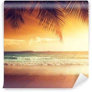 Vinylová Fototapeta Západ slunce na pláži Karibského moře