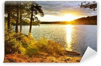 Vinylová Fototapeta Západ slunce nad jezerem