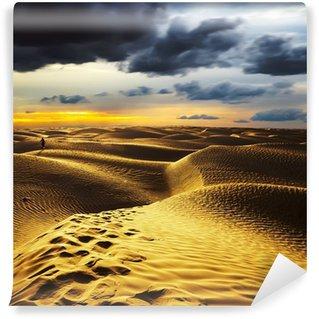 Vinylová Fototapeta Západ slunce v poušti Sahara - Douz, Tunisia.