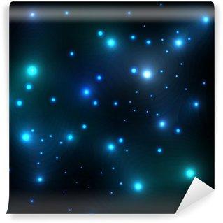 Vinylová Fototapeta Zářící hvězdy ve vesmíru lesk vektor pozadí šablony koncepčních