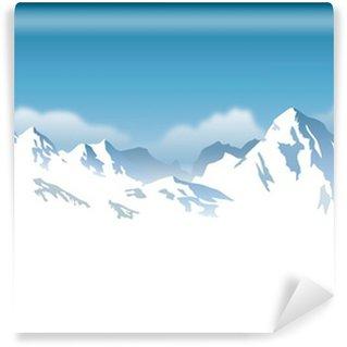 Vinylová Fototapeta Zasněžené hory - pozadí