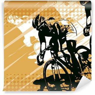 Vinylová Fototapeta Závod cyklistů