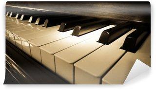 Vinylová Fototapeta Zavřete záběr klávesnici klavíru