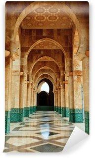 Fototapeta Winylowa Zawiły marmur i brama mozaika na zewnątrz meczetu