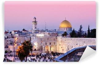 Vinylová Fototapeta Zeď nářků a Skalní dóm v Jeruzalémě, Izrael