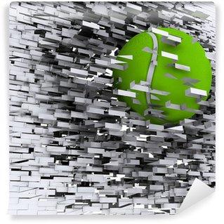 Vinylová Fototapeta Zelená tenisový míček