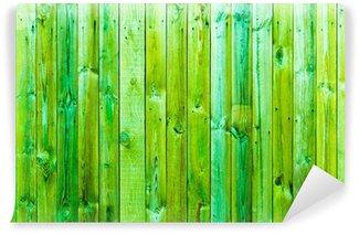 Vinylová Fototapeta Zelená textura dřeva s přírodním vzory