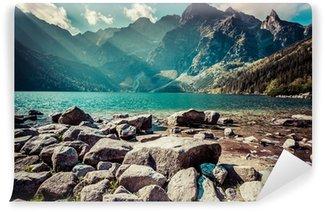 Vinylová Fototapeta Zelená voda horské jezero Morskie Oko, Tatry, Polsko