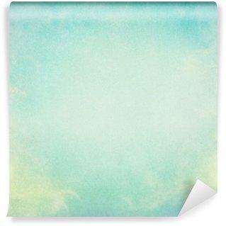 Vinylová Fototapeta Zelená Žlutá mlha. Mlha a mraky na vinobraní papírové pozadí. Obrázek zobrazuje příjemný papíru obilí a textury na 100 procent.