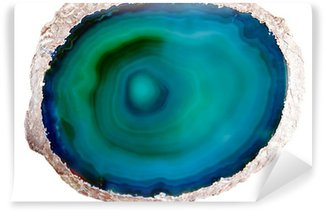 Vinylová Fototapeta Zelené a modré achát
