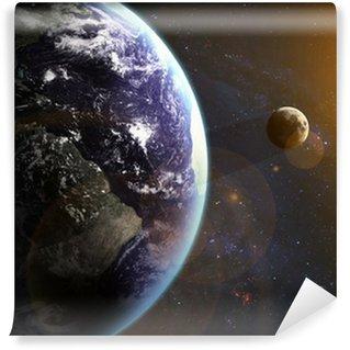 Vinylová Fototapeta Země ve vesmíru. Prvky tohoto obrázku poskytované NASA