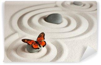 Fototapeta Vinylowa Zen kamienie z motylem