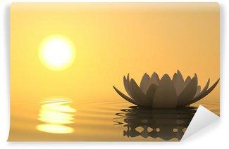 Vinylová Fototapeta Zen lotosový květ na západ slunce