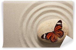Fototapeta Vinylowa Zen rock z motylem