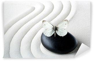 Fototapeta Vinylowa ZEN Stone z motylem