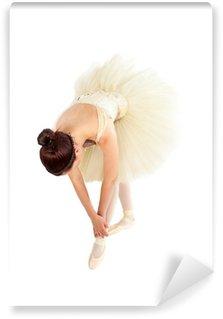 Vinylová Fototapeta Žena baletní tanečník streching před jejím lekce
